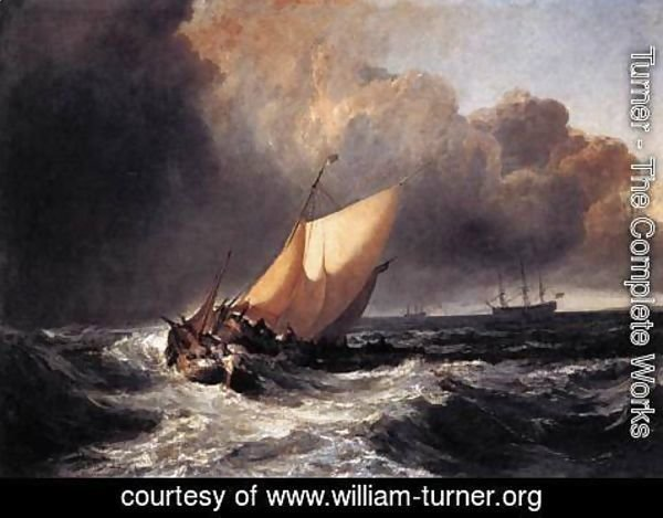 Turner - Dutch Boats in a Gale 1801