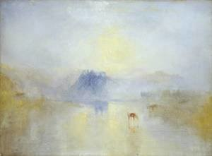 Turner - Norham Castle, Sunrise 1845