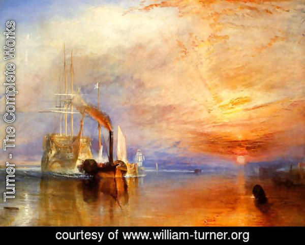 Turner - The Fighting 'Téméraire' tugged to her last Berth to be broken up