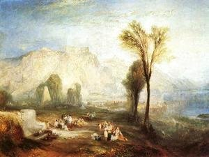Turner - The Bright Stone of Honor (Ehrenbrietstein) and the Tomb of Marceau, from Byron's 'Childe Harold'