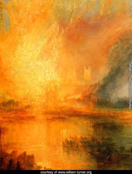The Burning of the Houses of Parliament [detail: 1]
