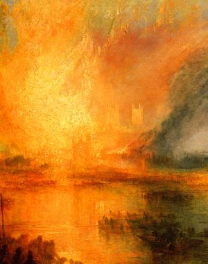 Turner - The Burning of the Houses of Parliament [detail: 1]