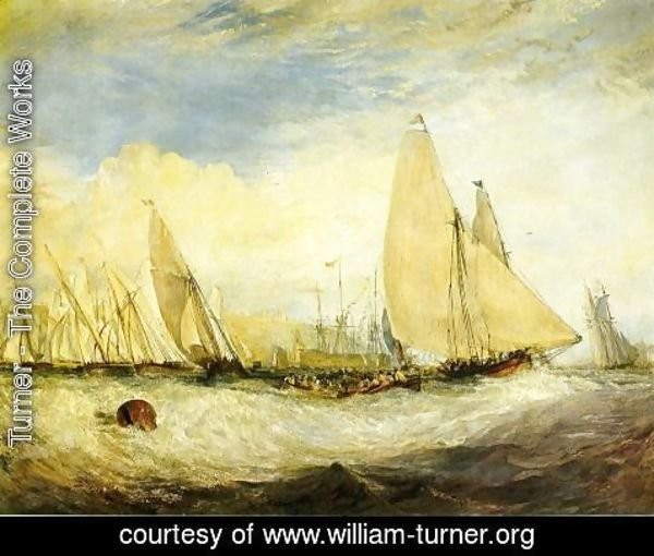 Turner - East Cowes Castle, the seat of J. Nash, Esq.; the Regatta beating to windward