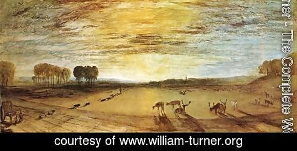 Turner - Petworth Park: Tillington Church in the Distance