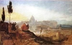 Turner - Rome: St. Peter's from the Villa Barberini