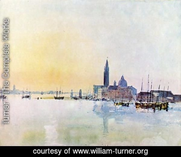 Turner - Venice, San Guirgio from the Dogana: Sunrise