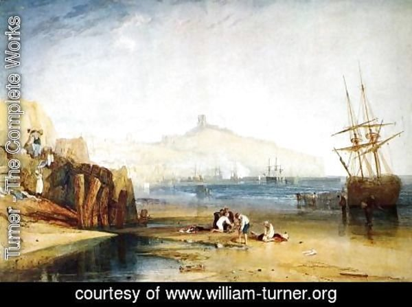 Turner - Scarborough Town and Castle: Morning: Boys Catching Crabs