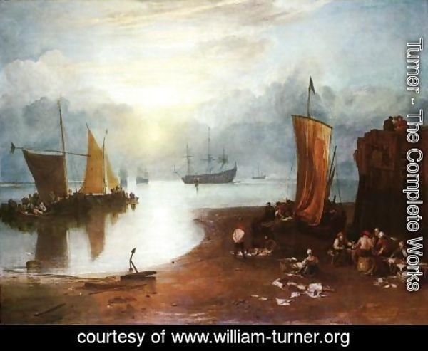 Turner - Sun Rising through Vagour; Fishermen Cleaning and Sellilng Fish
