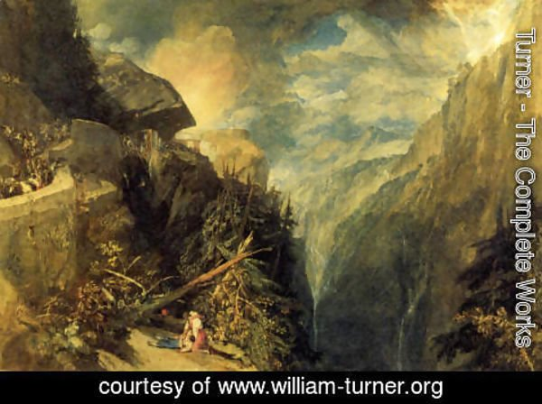 Turner - The Battle of Fort Rock, Val d'Aoste, Piedmont