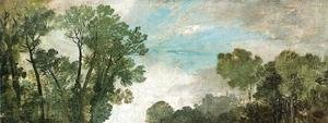 Turner - Tree Tops and Sky, Guildford Castle (?), Evening