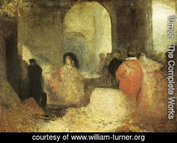Turner - Dinner in a Great Room with Figures in Costume