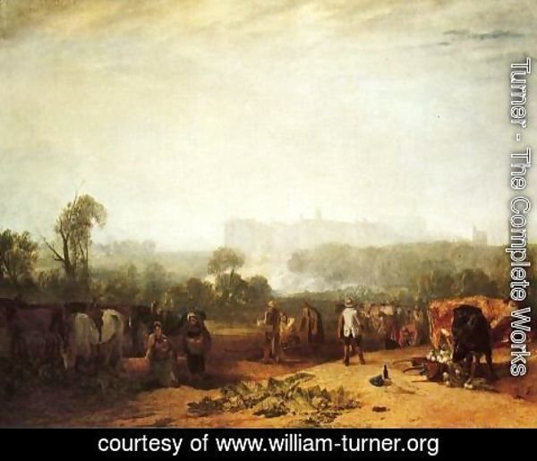 Turner - Ploughing up Turnips, near Slough