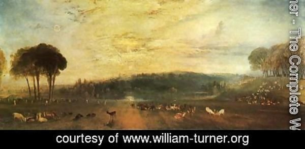 Turner - The Lake, Petworth: sunset, fighting bucks