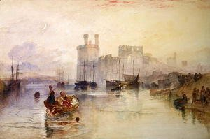 Turner - View of Carnarvon Castle