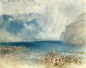 Turner - The First Steamer on the Lake of Lucerne in 1841