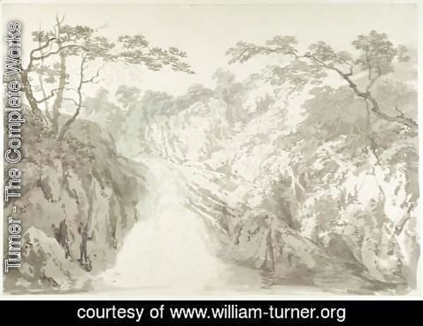 Turner - Landscape with Waterfall, c.1796