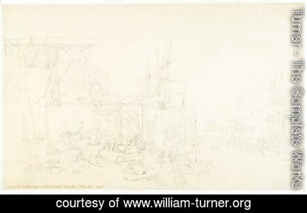 Turner - The Hurries, coal boats loading, North Shields, c.1795