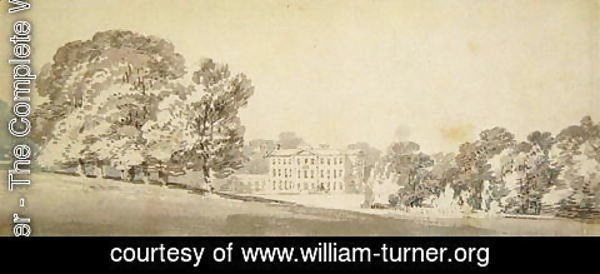 Turner - A three storied Georgian house in a park, c.1795