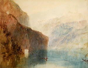 Turner - Tells Chapel, Lake Lucerne, c.1841