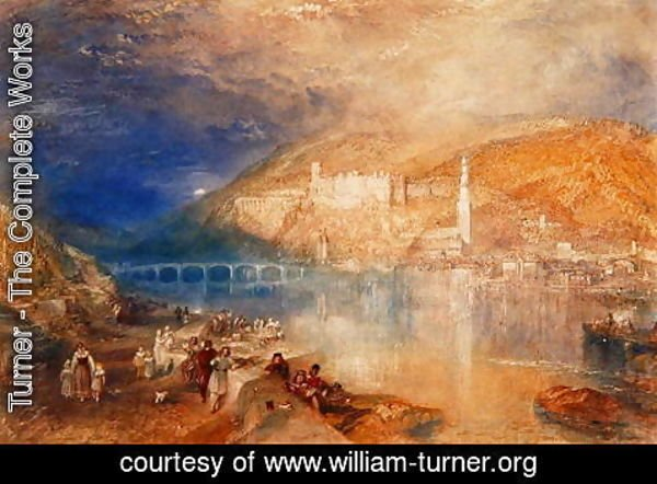 Turner - Heidelberg: Sunset, c.1840-42
