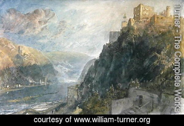 Turner - Rheinfels looking to Katz and Gourhausen, 1817
