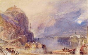 Turner - The Drachenfels, Germany, c.1823-24