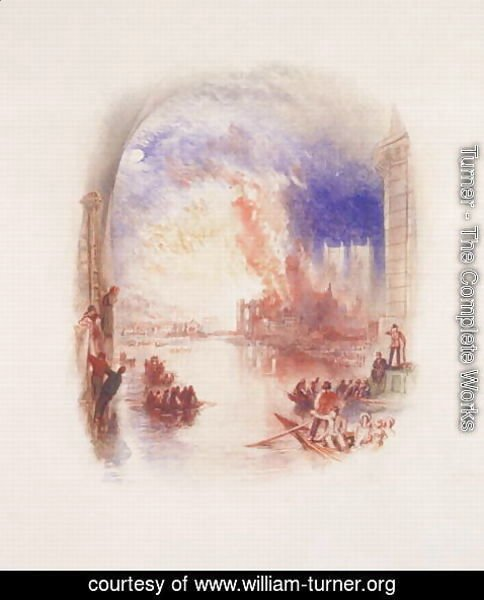 Turner - The Burning of the Houses of Parliament 2