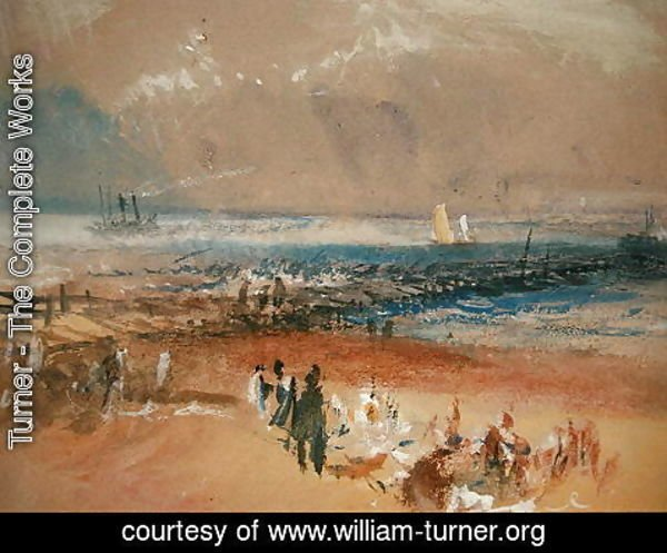 Turner - Boats at Margate Pier