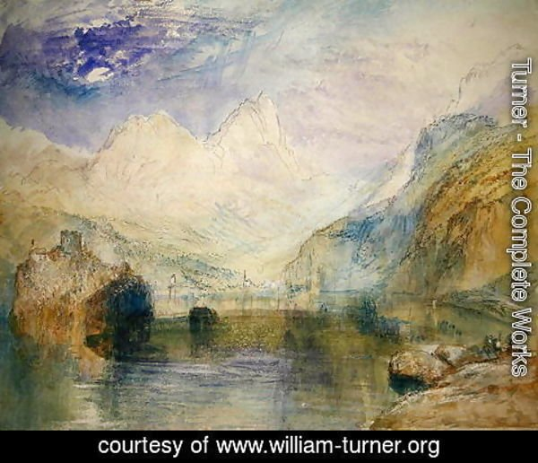 Turner - The Lauerzersee with Schwyz and the Mythen