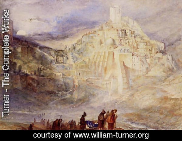 Turner - Wilderness A Engedi and Convent of Santa Saba