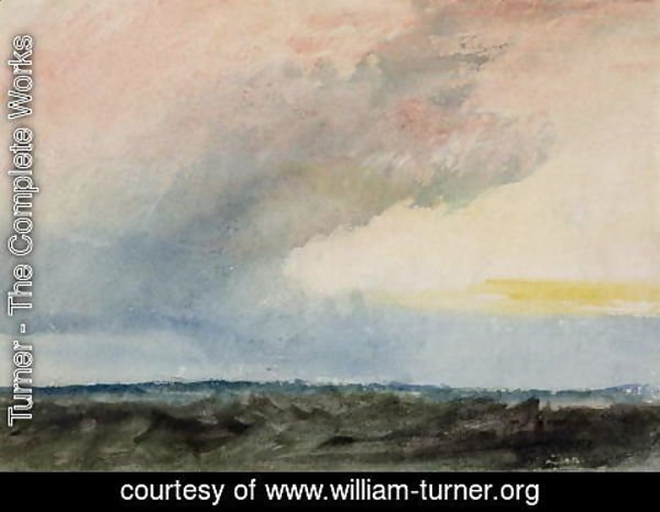 Turner - A Rainstorm at Sea