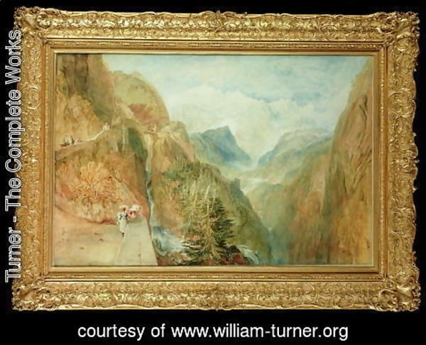 Turner - Mont Blanc from Fort Rock in Val DAosta, c.1810