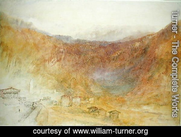 Turner - The Brunig Pass from Meiringen, Switzerland