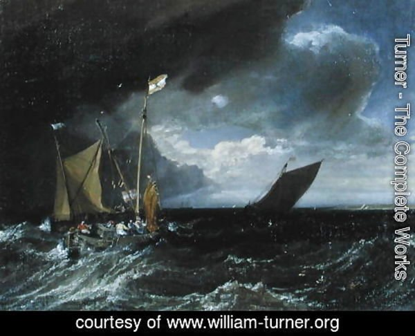 Turner - Seascape with a Squall Coming Up, c.1803