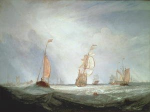 Turner - Helvoetsluys ships going out to sea, 1832