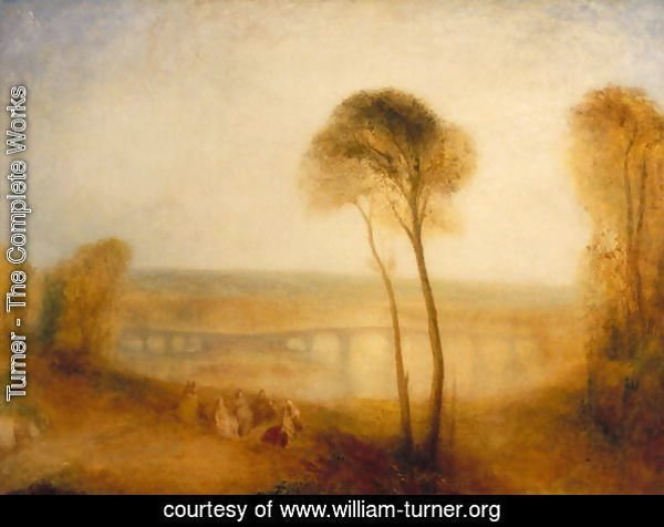 Landscape with Walton Bridges, c.1845