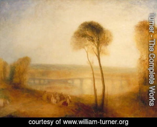 Turner - Landscape with Walton Bridges, c.1845