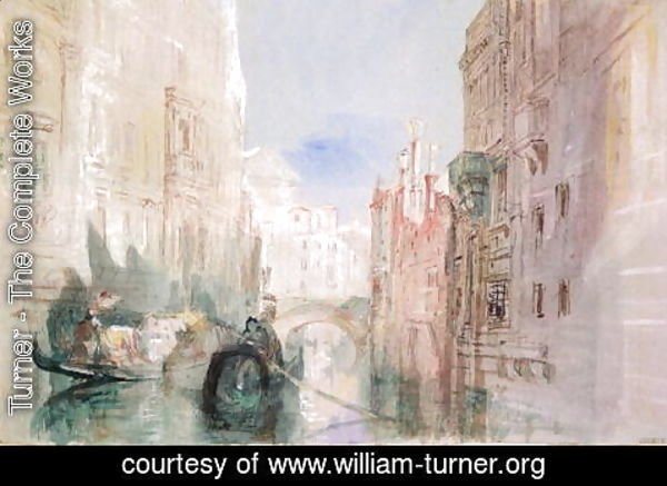 Turner - A Canal near the Arsenale, Venice