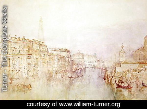 Turner - The Grand Canal looking towards the Dogana