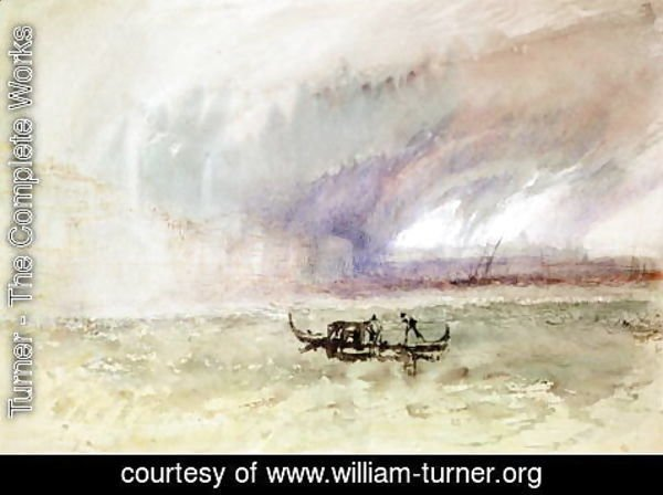 Turner - A Storm on the Lagoon, Venice