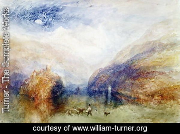 Turner - The Lauerzersee with the Mythens, c.1848
