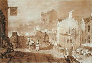 Morpeth, Northumberland, engraved by Charles Turner 1773-1857 published 1808