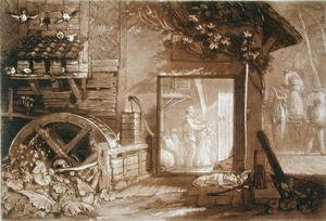 Turner - Penbury Mill, Kent, engraved by Charles Turner 1773-1857 published 1808