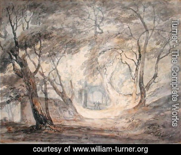 Turner - Woodland Scene with Figures, c.1798