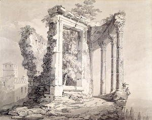 Turner - Temple of the Sibyl, Tivoli