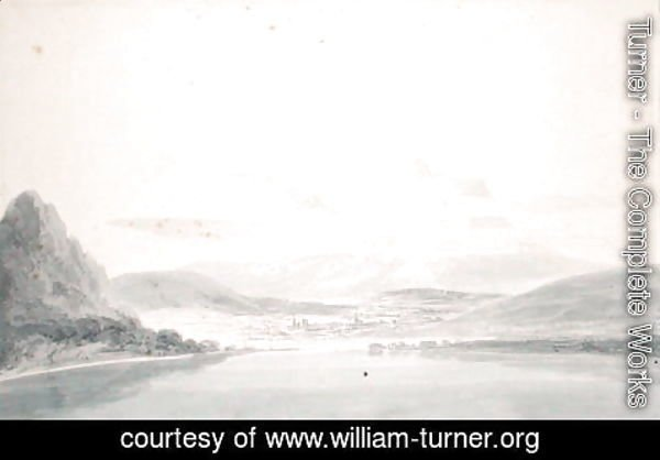 Turner - Landscape, after John Robert Cozens 1752-99