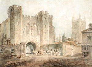 Turner - King Edgars Gate, Worcester, c.1794
