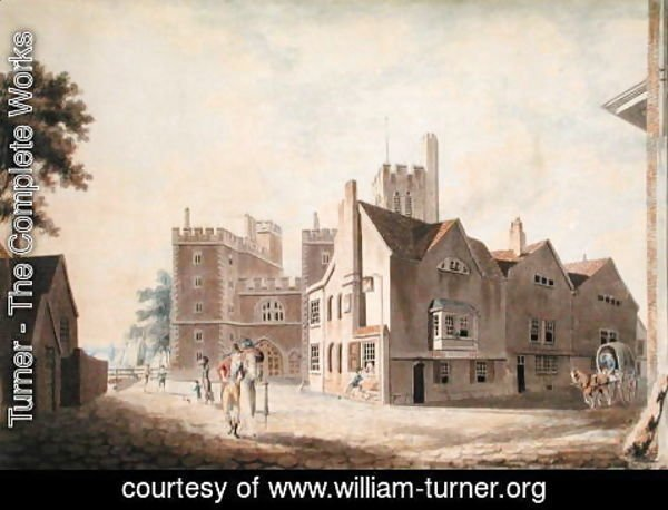 Turner - A View of the Archbishops Palace, Lambeth, 1790
