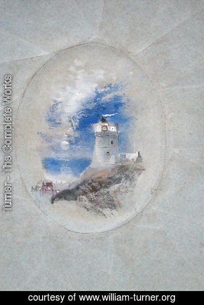 Turner - Lowestoffe Lighthouse, c.1827
