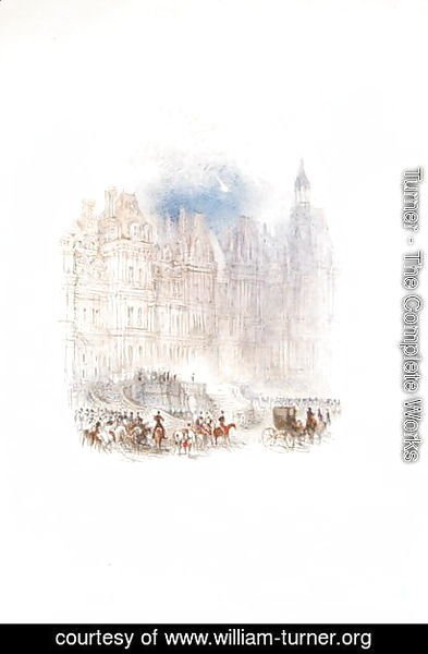 Turner - Fontainebleau The Departure of Napoleon, 1833